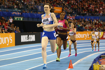 Laura Muir on her way to victory at the Birmingham Indoor Grand Prix (Getty Images)