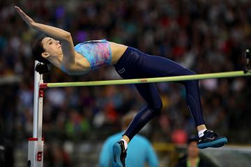 Maria Lasitskene wins the high jump at the IAAF Diamond League final in Brussels (Giancarlo Colombo)