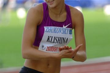 Darya Klishina at the 2010 Znamenskiy Memorial (LOC)