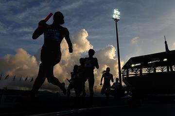 Athletes in action at the IAAF World Relays (Getty Images)
