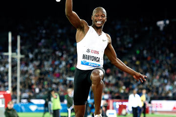 Luvo Manyonga in the long jump at the IAAF Diamond League final in Zurich (Mark Shearman)
