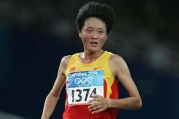 Sun Yingjie of China in the women's 10,000m (Getty Images)