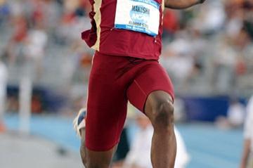 Ngonidzashe Makusa of Zimbabwe at the NCAA Champs (Kirby Lee)
