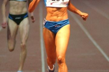 Libania Grenot taking the 400m in Lugano (Lorenzo Sampaolo)