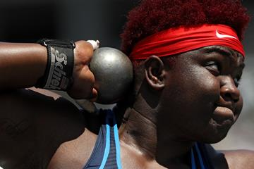 Shot put winner Raven Saunders at the US Championships (Getty Images)