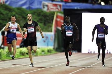 Ramil Guliyev (second left) in the 200m at the 2015 IAAF World Challenge meeting in Zagreb (Organisers)