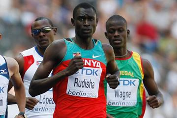 David Rudisha in action at the IAAF World Championships (Getty Images)