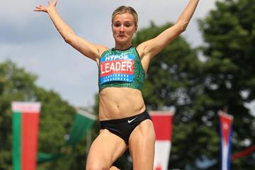 Brianne Theisen Eaton at the 2015 Hypo-Meeting in Gotzis (Jean-Pierre Durand)