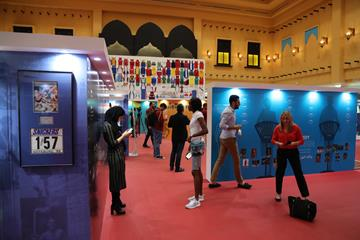 IAAF Heritage - Diamond League guests visit exhibition in Doha during a private viewing  (IAAF)