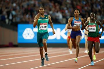 Caster Semenya, Ajee' Wilson and Francine Niyonsaba in the women's 800m final at the IAAF World Championships London 2017 (Getty)