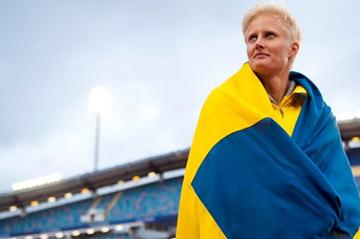 Carolina Klüft in Gothenburg after the final meet of her career (Anders Sjogren / DECA Text&Bild)