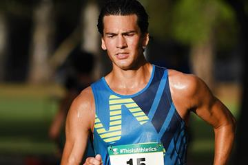 Perseus Karlstrom in action at the Oceanian 20km Race Walk Championships in Adelaide (Getty Images)