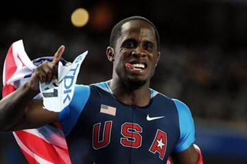 Dwight Phillips of the USA celebrates victory in the men's long jump final (Getty Images)