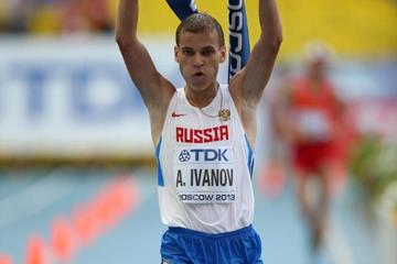 Aleksandr Ivanov wins the men's 20km race walk at the 2013 IAAF World Championships in Moscow (Getty Images)