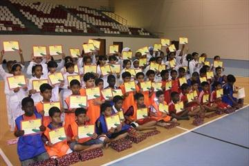 Kids Athletics participants in Oman (IAAF.org)