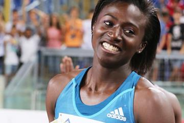 Tori Bowie, winner of the 100m at the IAAF Diamond League meeting in Rome (Gladys Chai von der Laage)