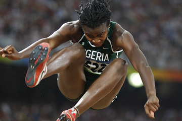 Nigeria's Blessing Okagbare in the long jump (AFP / Getty Images)