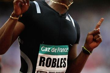 Dayron Robles becomes the first man to record two sub-12.90 clockings in the 110m hurdles (Getty Images)