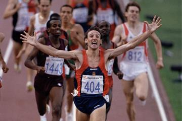 Fermin Cacho wins the 1992 Olympic Games 1500m title (Getty Images)