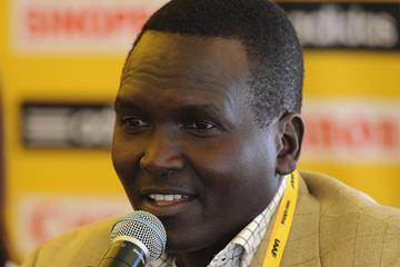 Cross Country legend Paul Tergat at the IAAF Press Conference for the 40th edition of the IAAF World Cross Country Championships in Bydgoszcz, Poland, Saturday 23 March (Getty Images)