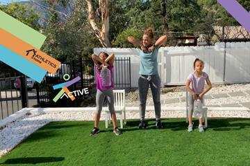 Joanna Hayes' family workout (WA)