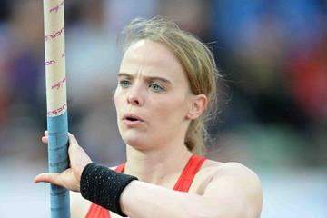 Silke Spielgelburg at the 2013 IAAF Diamond League meeting in Oslo (Jiro Mochizuki)