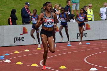 Beatrice Chepkoech en route to another victory in Birmingham (AFP/Getty Images)