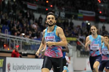 Adam Kszczot winning again in Torun (Jean Pierre Durand for the IAAF)