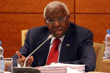 IAAF President Lamine Diack at the Moscow IAAF Council meeting, 5 August (IAAF)