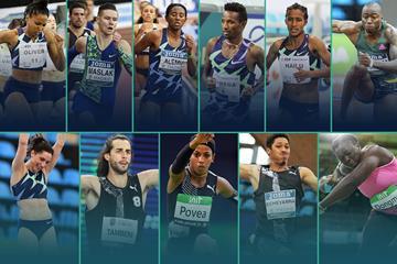 2021 World Athletics Indoor Tour winners (Getty / Jean-Pierre Durand)