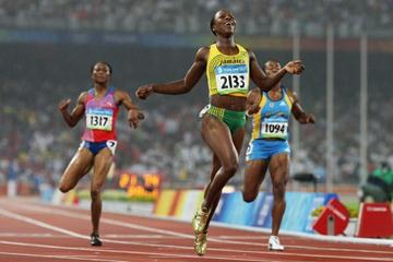 Veronica Campbell-Brown runs 21.74 to become the tenth fastest woman of all time (Getty Images)