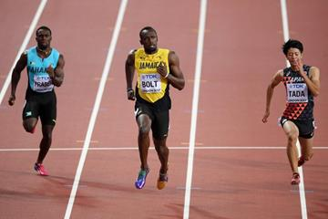 Usain Bolt in the 100m at the IAAF World Championships London 2017 (Getty Images)