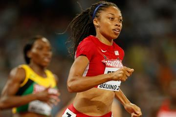 USA's Allyson Felix in the 400m semi-final at the IAAF World Championships, Beijing 2015 (Getty Images)