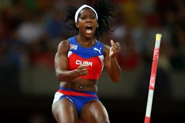 World pole vault champion Yarisley Silva at the IAAF World Championships, Beijing 2015 (Getty Images)
