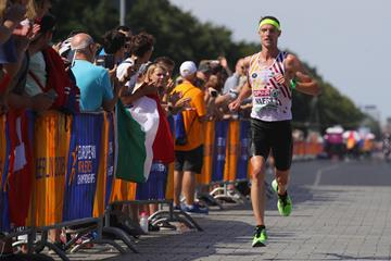 Koen Naert on his way to winning the marathon at the European Championships (Getty Images)