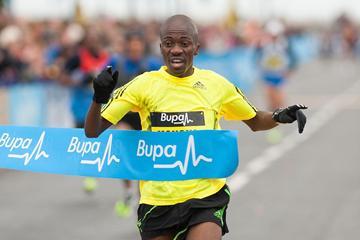 Stephen Mokoka of South Africa winning the Great South Run 10-Miler (Mark Shearman)