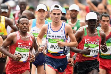 Callum Hawkins of Great Britain and Northern Ireland during the men's marathon at the Rio 2016 Olympic Games (Getty Images)