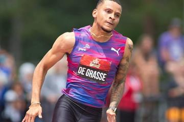 Andre De Grasse at the Canadian Championships (Brian Rouble/organisers)