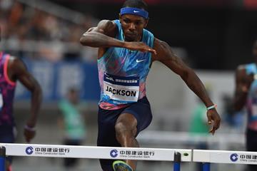 Bershawn Jackson cruising to victory in Shanghai (Errol Anderson/Jiro Mochizuki)