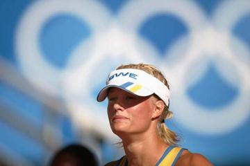 A portrait of Carolina Kluft in Athens (Getty Images)