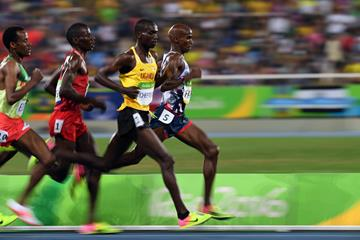 Mo Farah and Joshua Cheptegei in the 10,000m at the Rio 2016 Olympic Games (AFP / Getty Images)