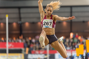 Alexandra Wester wins the German indoor long jump title (Getty Images)
