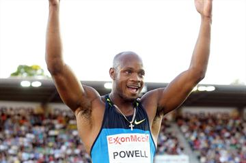 Asafa Powell at the Oslo Diamond League meeting (Mark Shearman)