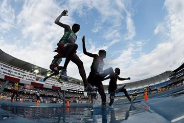 Boys' 2000m  steeplechase final at the IAAF World Youth Championships, Cali 2015 (Getty Images)