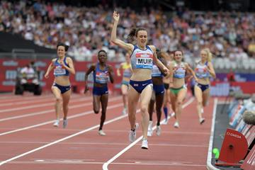 Laura Muir takes another 1500m win in London (Kirby Lee)
