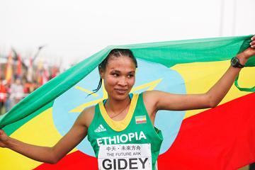 Junior women's winner Letesenbet Gidey at the IAAF World Cross Country Championships, Guiyang 2015 (Getty Images)