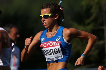 Eleonora Giorgi at the 2013 IAAF World Championships (Getty Images)