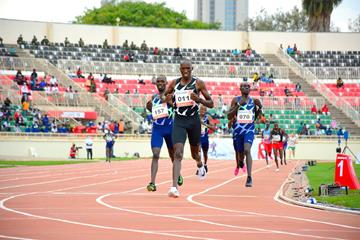Timothy Cheruiyot wins the 1500m at the Continental Tour Gold meeting in Nairobi (Organisers)