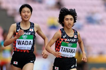 Nozomi Tanaka leads the 3000m at the IAAF World U20 Championships Tampere 2018 (Getty Images)
