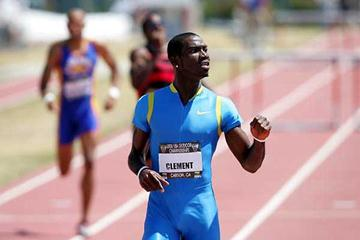 kerron Clement wins the 400m Hurdles in USATF Champs (Getty Images)
